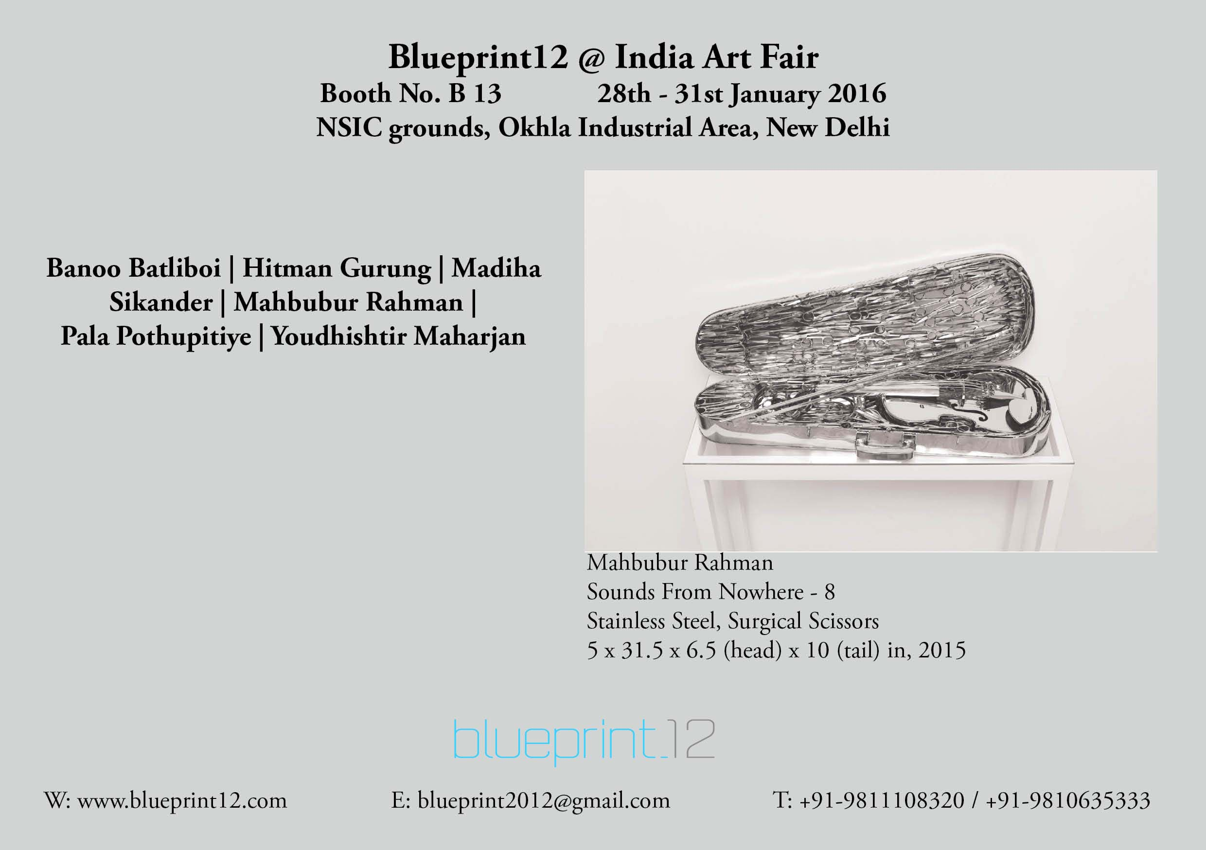 India Art Fair, Blueprint12, South Asian Artists