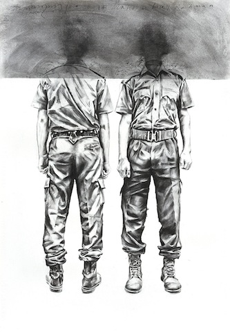 Mahbubur Rahman ,  charcoal drawing and digital print