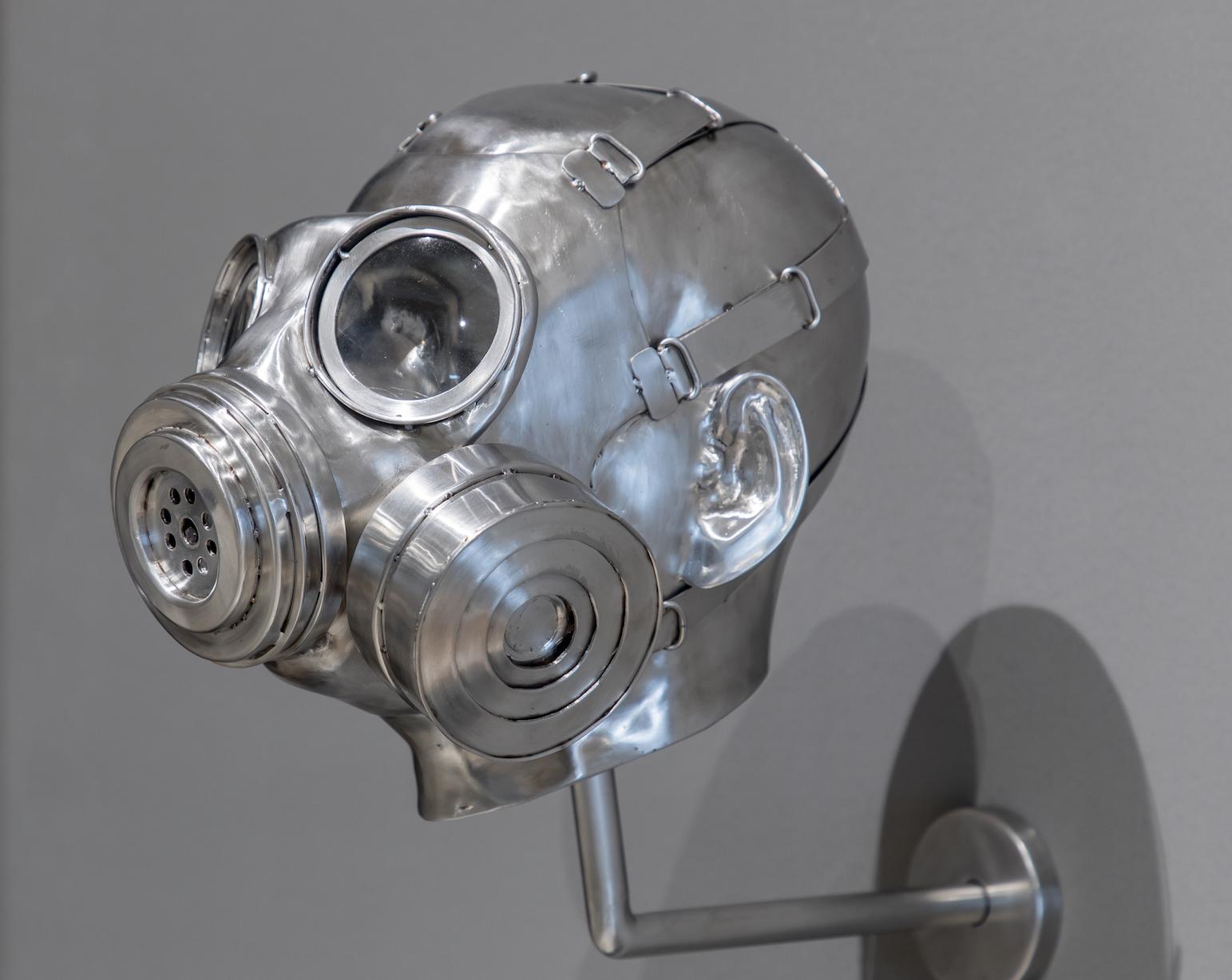 Mahbubur Rahman ,Man with gas mask, stainless steel