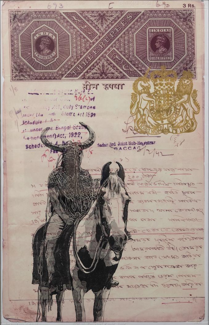 Mahbubur Rahman ,  Dislocation,  drawing and digital print