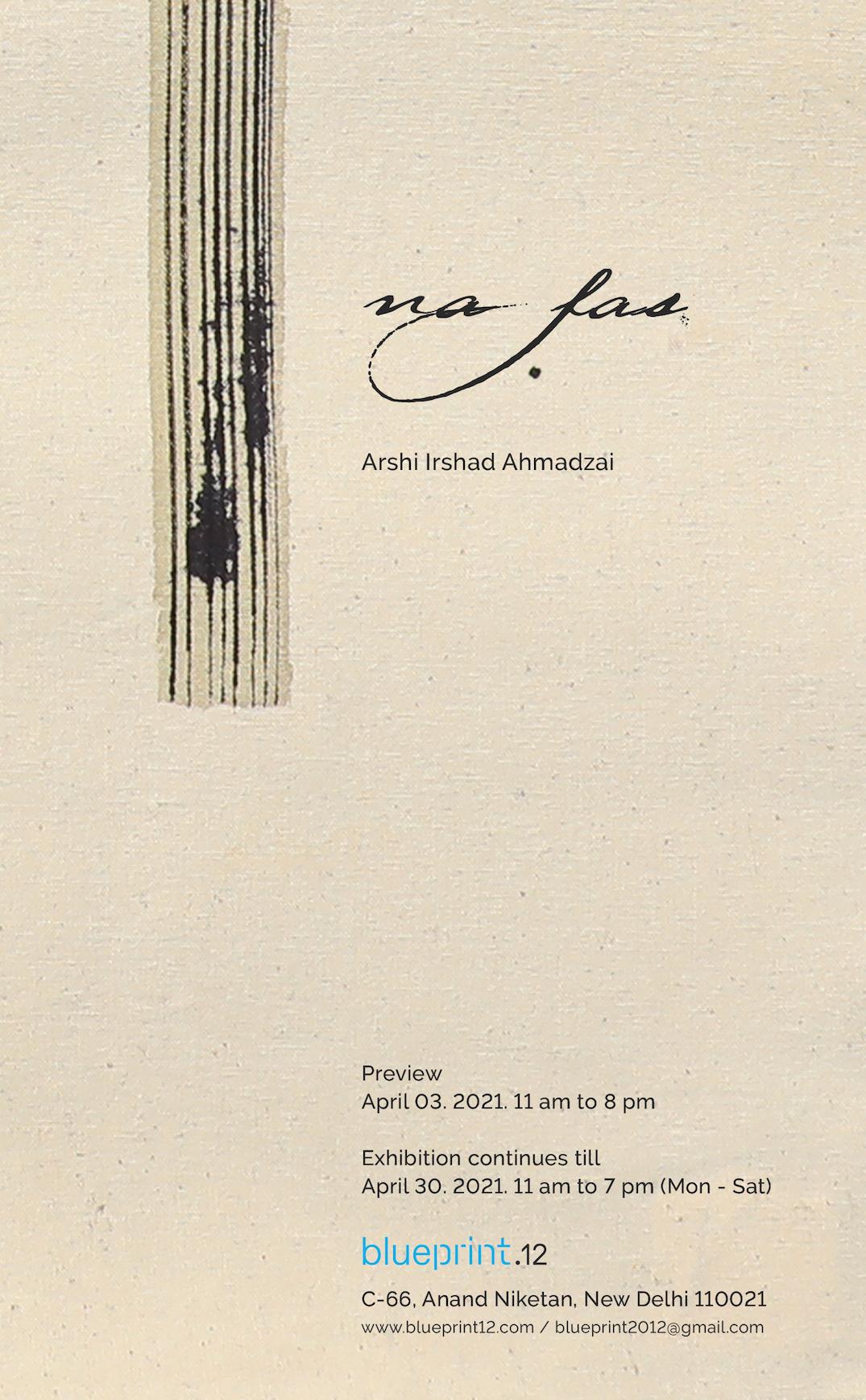 Arshi Irshad Ahmadzai, natural colour on cloth, south asian